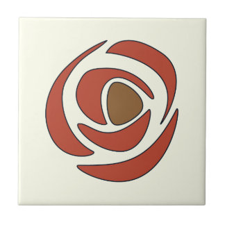 Mackintosh Pomegranate Art Nouveau Roses Tile