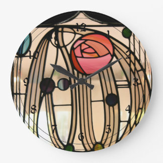 Mackintosh - Stained Glass Window, The Hill House Wallclock