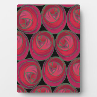 Mackintosh Style Roses Pattern in Pink and Red Plaque