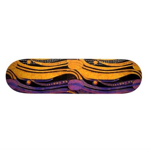 Mackintosh: Tulips Design Custom Skate Board