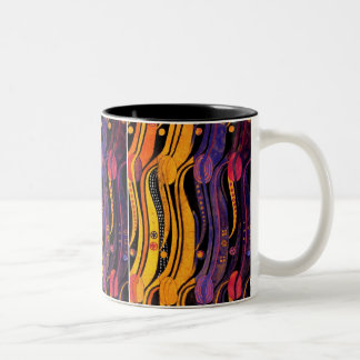 Mackintosh: Tulips Design Two-Tone Coffee Mug