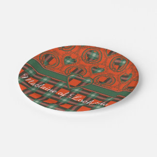 Maclaine of Lochbuie clan Plaid Scottish tartan Paper Plate