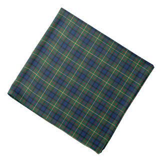 MacLaren Clan Blue and Green Scottish Tartan Bandana