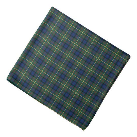 MacLaren Clan Blue and Green Scottish Tartan Bandana