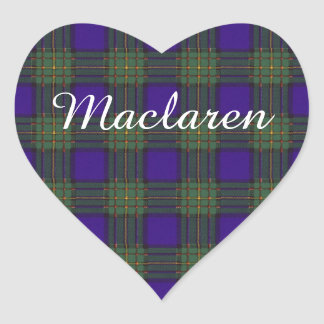 Maclaren clan Plaid Scottish tartan Heart Sticker