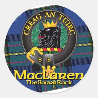 MacLaren Clan Round Sticker