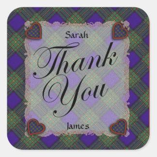 Maclaren Scottish clan tartan - Plaid Square Sticker