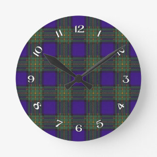 Maclaren Scottish Tartan Round Clock