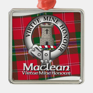 Maclean Clan Silver-Colored Square Decoration