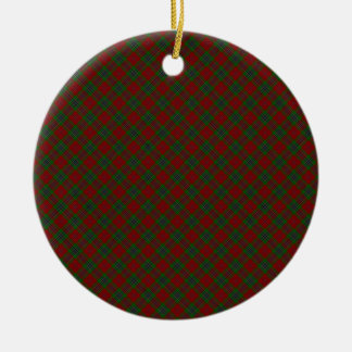 MacLean / McLean Clan Tartan Designed Print Christmas Ornament