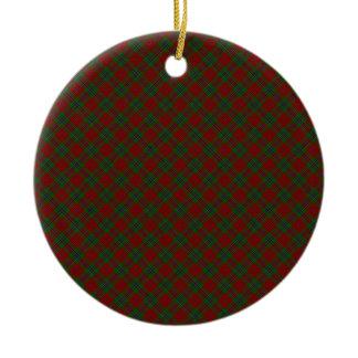 MacLean / McLean Clan Tartan Designed Print Christmas Ornament