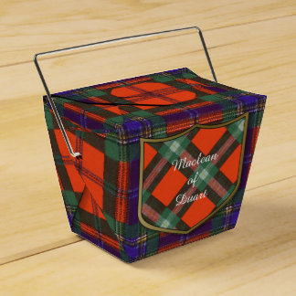 Maclean of Duart Plaid Scottish tartan Party Favour Box