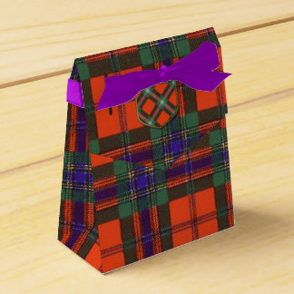 Maclean of Duart Plaid Scottish tartan Wedding Favour Box