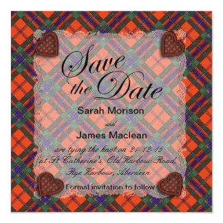 Maclean of Duart Scottish clan tartan - Plaid Card