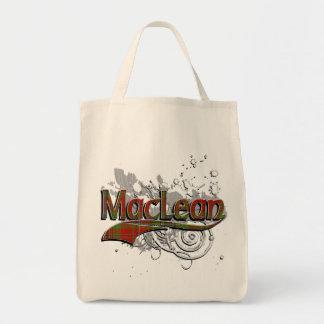 MacLean Tartan Grunge Tote Bag