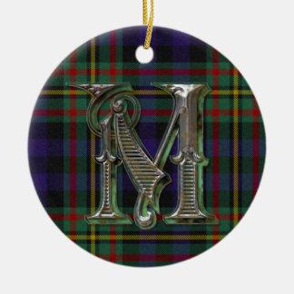 MacLellan Plaid Monogram ornament