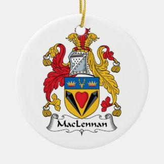 MacLennan Family Crest Round Ceramic Decoration