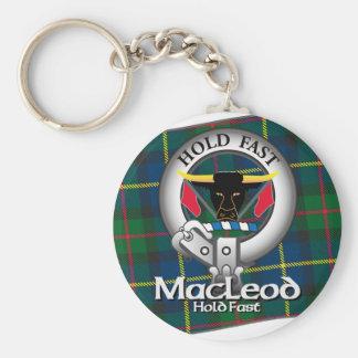 MacLeod Clan Basic Round Button Key Ring