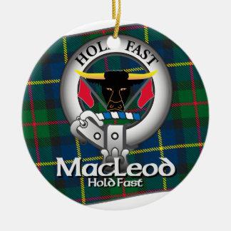 MacLeod Clan Round Ceramic Decoration