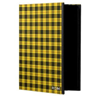 MacLeod Clan Yellow and Black Clan Tartan Monogram Powis iPad Air 2 Case