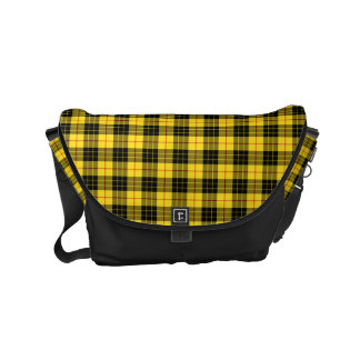 MacLeod Clan Yellow and Black Scottish Tartan Messenger Bag