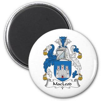 MacLeod Family Crest 6 Cm Round Magnet