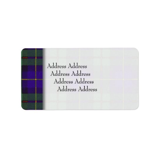 Macleod of Harris clan Plaid Scottish tartan Label