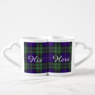 Macleod of Harris clan Plaid Scottish tartan Lovers Mug