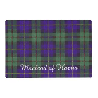 Macleod of Harris clan Plaid Scottish tartan Laminated Placemat