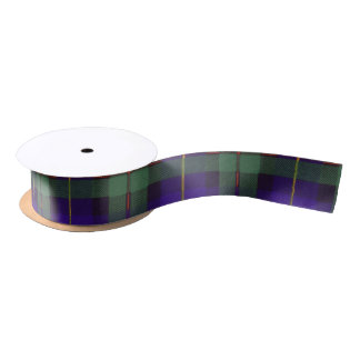 Macleod of Harris clan Plaid Scottish tartan Satin Ribbon