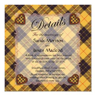 Macleod of Lewis & Ramsay Scottish tartan - Plaid 13 Cm X 13 Cm Square Invitation Card