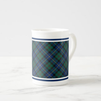MacLeod of Skye Family Tartan Blue and Green Plaid Tea Cup