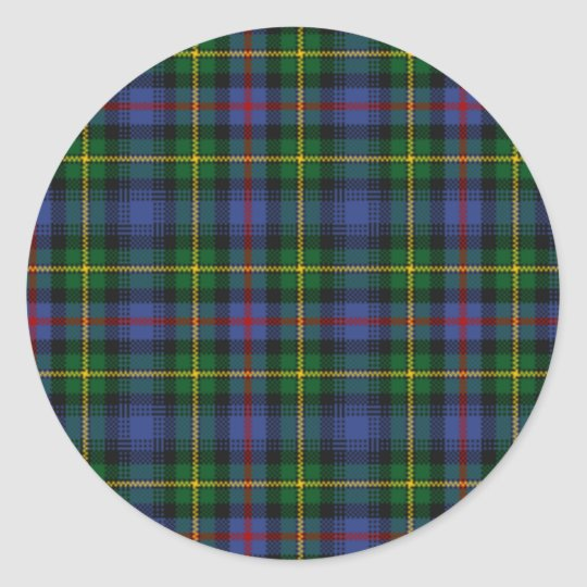 MacLeod of Skye Tartan Classic Round Sticker