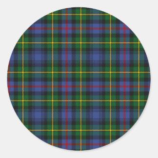 MacLeod of Skye Tartan Round Sticker