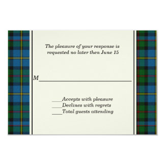 MacLeod Plaid Custom Wedding RSVP Card