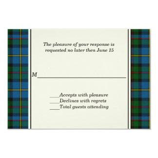 MacLeod Plaid Custom Wedding RSVP Card 9 Cm X 13 Cm Invitation Card