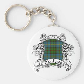 MacLeod Tartan Shield Basic Round Button Key Ring