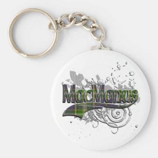 MacManus Tartan Grunge Basic Round Button Key Ring