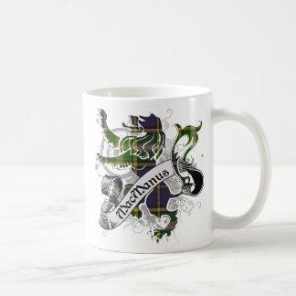 MacManus Tartan Lion Basic White Mug