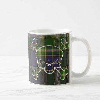 MacManus Tartan Skull No Banner Basic White Mug