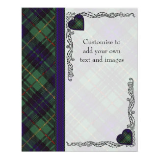 MacMichael clan Plaid Scottish kilt tartan 11.5 Cm X 14 Cm Flyer