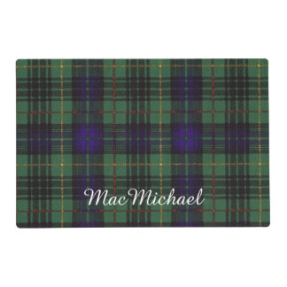 MacMichael clan Plaid Scottish kilt tartan Laminated Place Mat