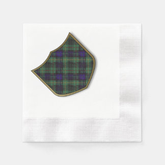 MacMichael clan Plaid Scottish kilt tartan Paper Napkin