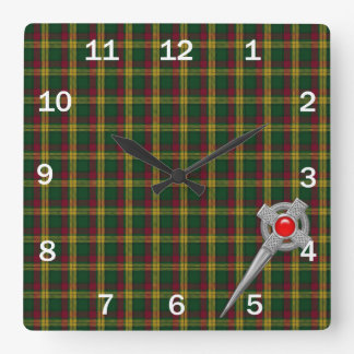 MacMillan Ancient Custom Tartan Plaid Clock