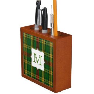 MacMillan Clan Plaid with Monogram Desk Organizer Desk Organiser