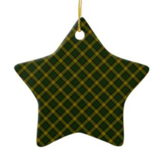 MacMillan Clan Tartan Scottish Designed Print Ceramic Star Decoration