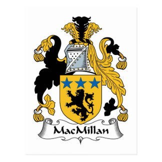 MacMillan Family Crest Postcard