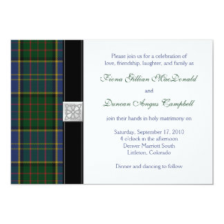 MacMillan HuntingTartan Wedding Invitation