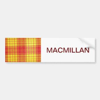 MACMILLAN SCOTTISH TARTAN BUMPER STICKERS