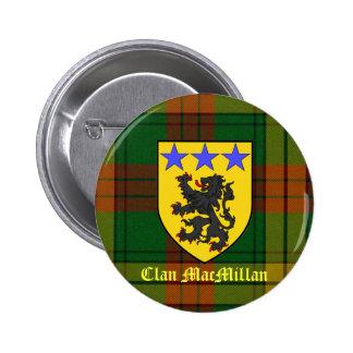 MacMillan Tartan Coat of Arms 6 Cm Round Badge